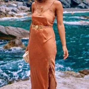 NWOT Spell & The Gypsy Rizzo Silk Slip Dress